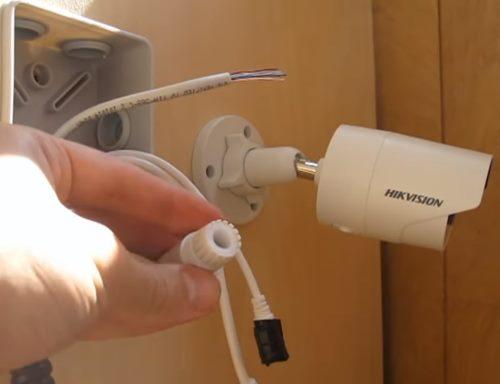 Монтаж камеры видеонаблюдения в доме