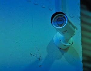 Камера видеонаблюдения на складе
