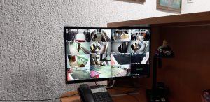 вид с камер видеонаблюдения в учебном учреждении