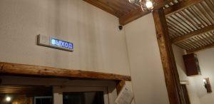 Камера видеонаблюдения в кафе