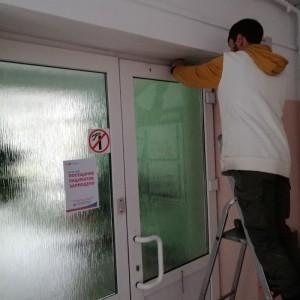 монтаж скуд на дверь в лабораторию