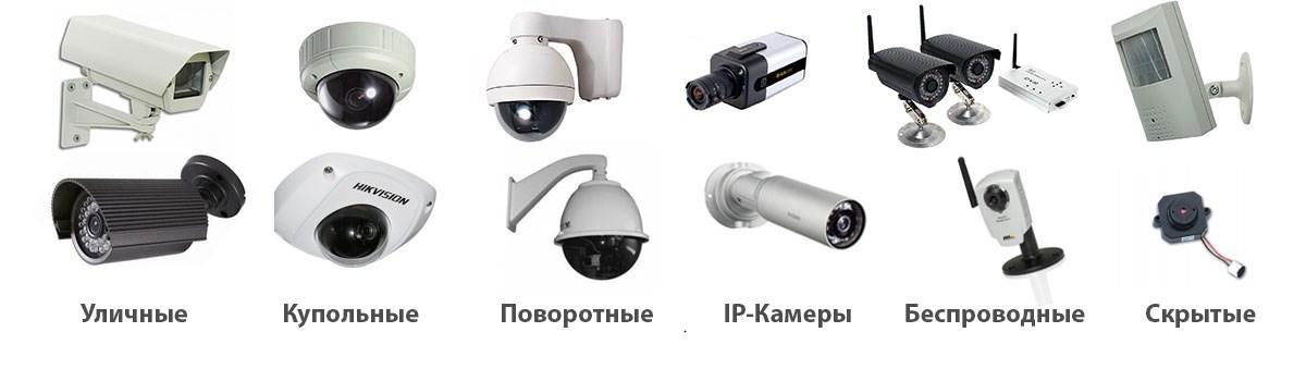 разные камеры видеонаблюдения