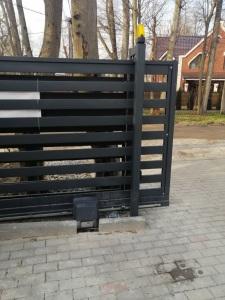 монтаж системы автоматики на ворота